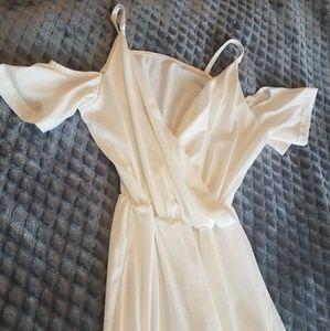 Long White off the shoulder summer maxi dress